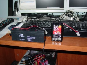 Notice the size difference of the two batteries