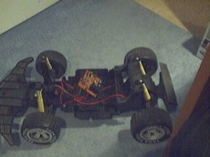 Car chassis from an old remote control car