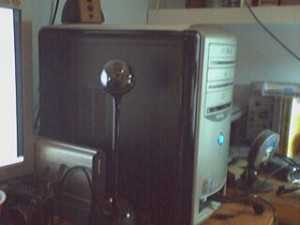 RoboCam - I might use this instead of the Orbitalso shown is a LinkSys Wireless G camera that I've been playing with