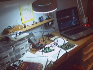My first Slug work area shot... I think I need a bigger desk!