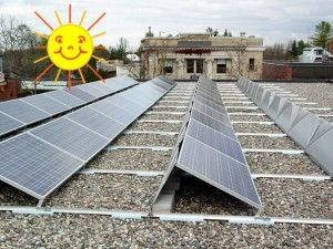 Solar panels soaking up some rays at 92 Bridge