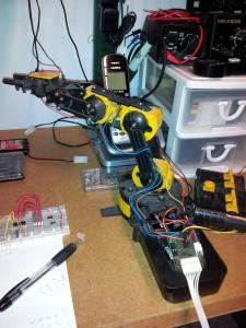 The robot arm awaiting it's next life...