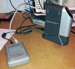 My SLUG and it's ASUS Wifi link..